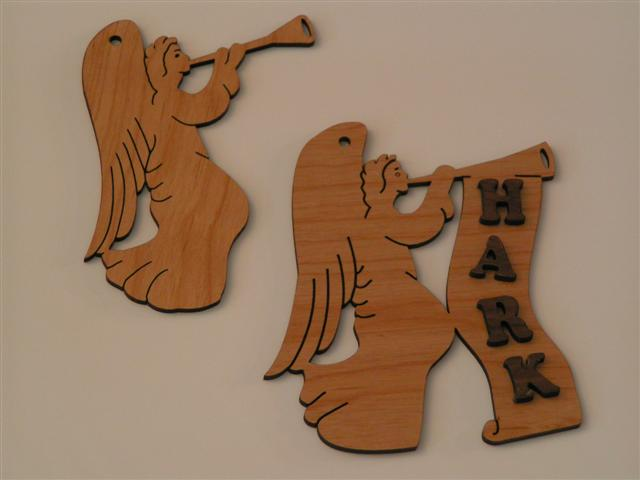 Wooden Angels Ornament